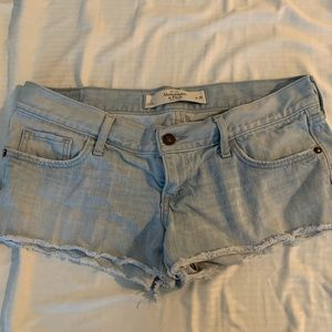 Abercrombie and Fitch Low Rise Denim Shorts